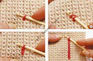 Поверхностное вязание крючком второй шаг