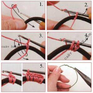 Обвязать кольцо крючком