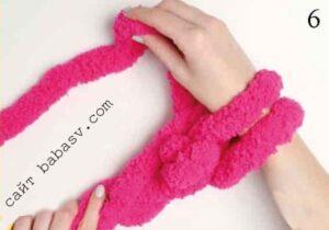 Вязание руками шестой шаг