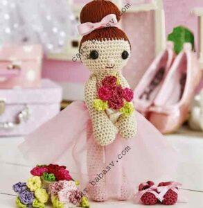 Красивая кукла балерина артистка балета