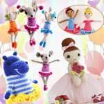 Артисты балета в виде игрушек связаны крючком
