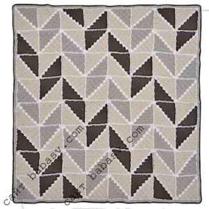 Блочные квадраты Описание вязания подушки из маленьких квадратов в технике с2с