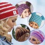 Женская шапочка в пяти модедях