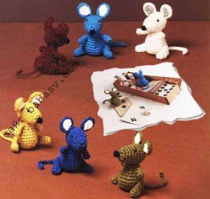 Маленькие мышки крючком своими руками