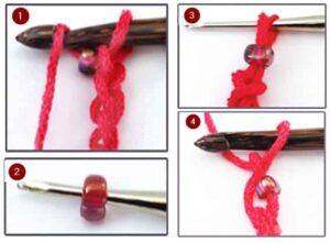 Вязание с бисером на цепочке