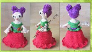 Кукла перевертыш Цветок связана крючком