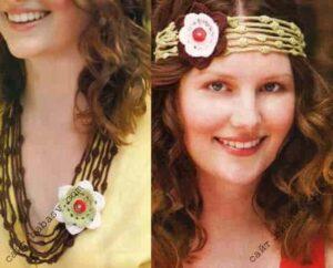 Цветочный обруч и ожерелье