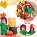 Украсим осень связанными крючком декоративными игрушками