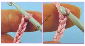 Правило вязания цепочки крючком