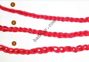 Пример вязания цепочки крючком