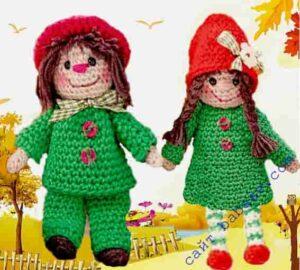 Украсим осень связанными крючком куклами амигуруми
