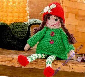 Украсим осень игрушкой девочкой в стиле амигуруми