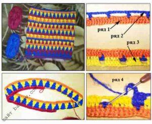 Вязание снуда объемного крючком