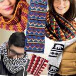 Цветной и удобный шарф крючком