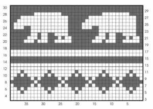 Схема вязания узора медведя крючком