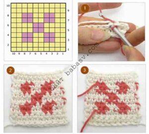 Гобеленовая техника вязания крючком