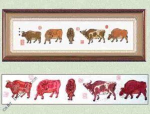 Символ года бык вышивка крестом