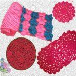 Ажурный и цветочный шарф крючком