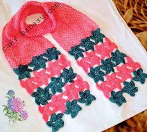 Цветочный шарф крючком своими руками