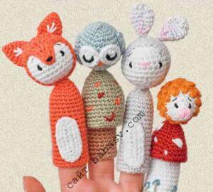 Пальчиковый лесной житель в 4 вариантах как пальчиковые игрушки