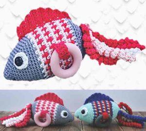 Рыба погремушка для ребенка связана крючком своими руками