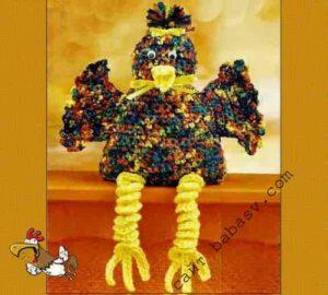 Весенняя декоративная птица с описанием вязания крючком