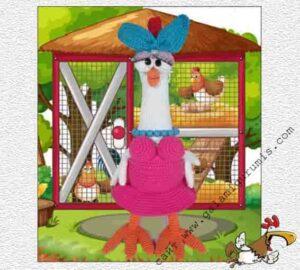 Весенняя птица курица с опи санием вязания крючком