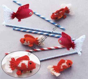 Рыбки амигуруми связаны крючком по схеме