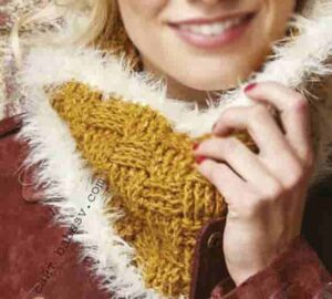 Связать шарф рельефными столбиками